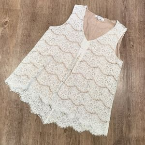 Rose & Olive lace sleeveless top